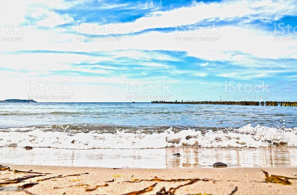 Baltic Sea Beach HDR royalty-free stock photo
