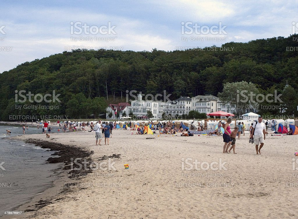 Baltic Sea beach in Binz, Germany stock photo