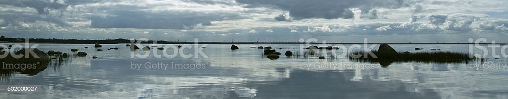Baltic Sea, Gulf of Finland royalty-free stock photo