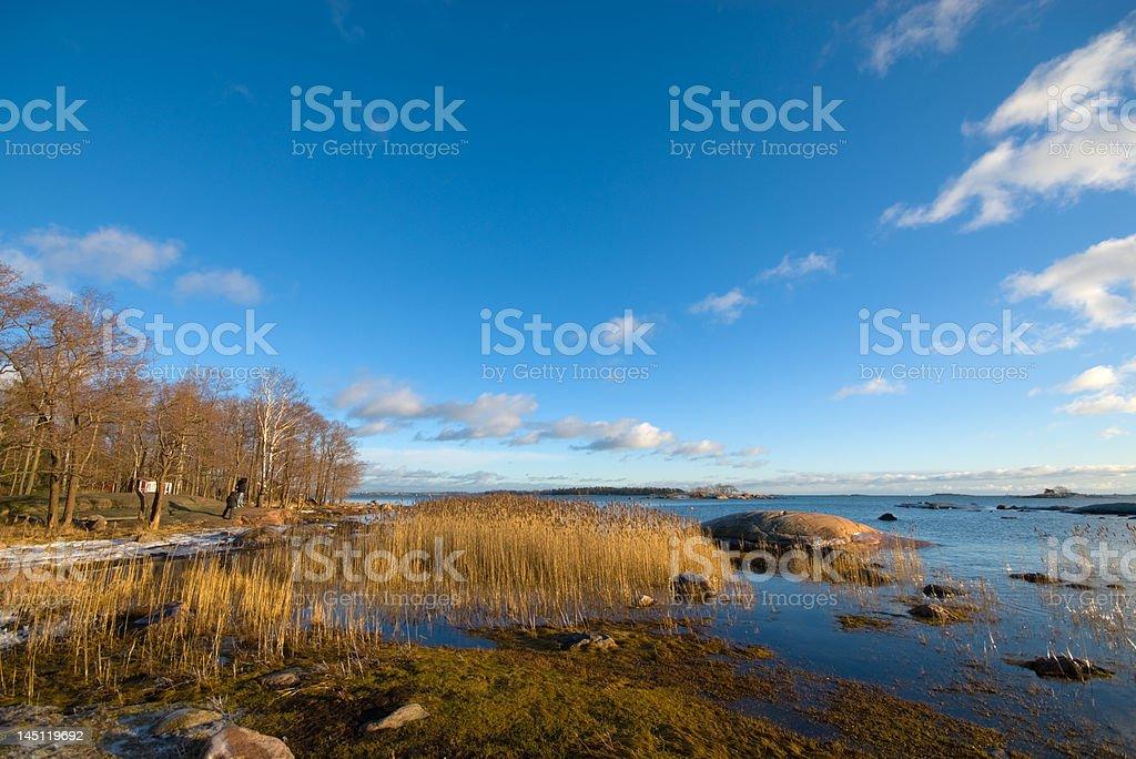 Baltic sea in January royalty-free stock photo