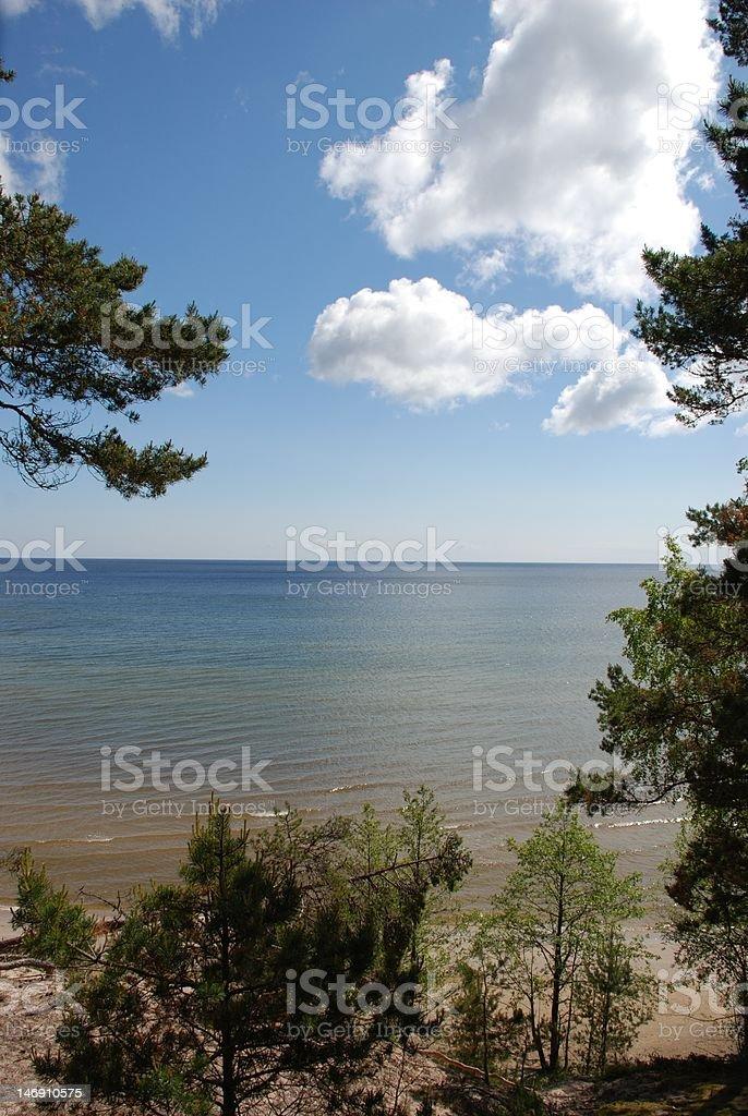 Baltic Sea, Latvia royalty-free stock photo