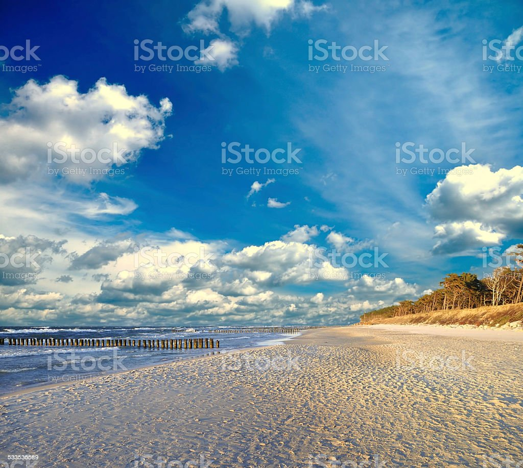 Baltic Sea. stock photo