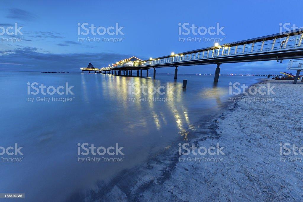 Baltic Sea pier at dawn royalty-free stock photo