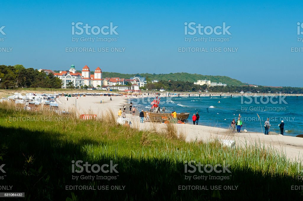 Ostseebad Binz stock photo