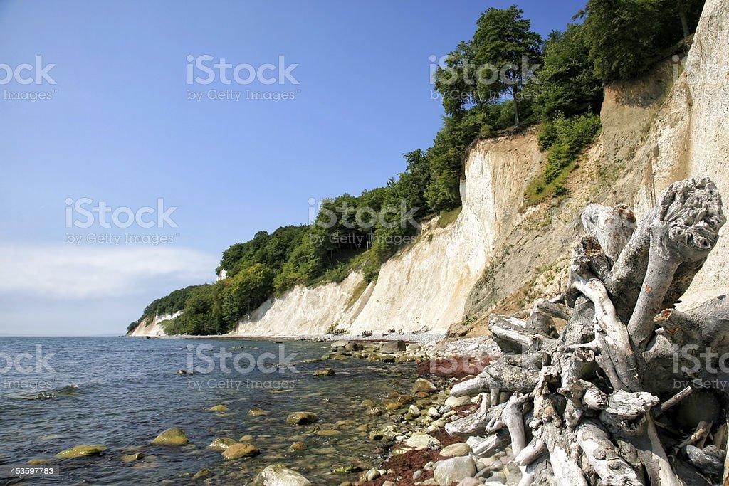 Baltic Sea shore at Ruegen island in Germany stock photo