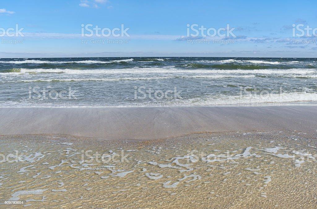 Baltic Sea - water waves. stock photo