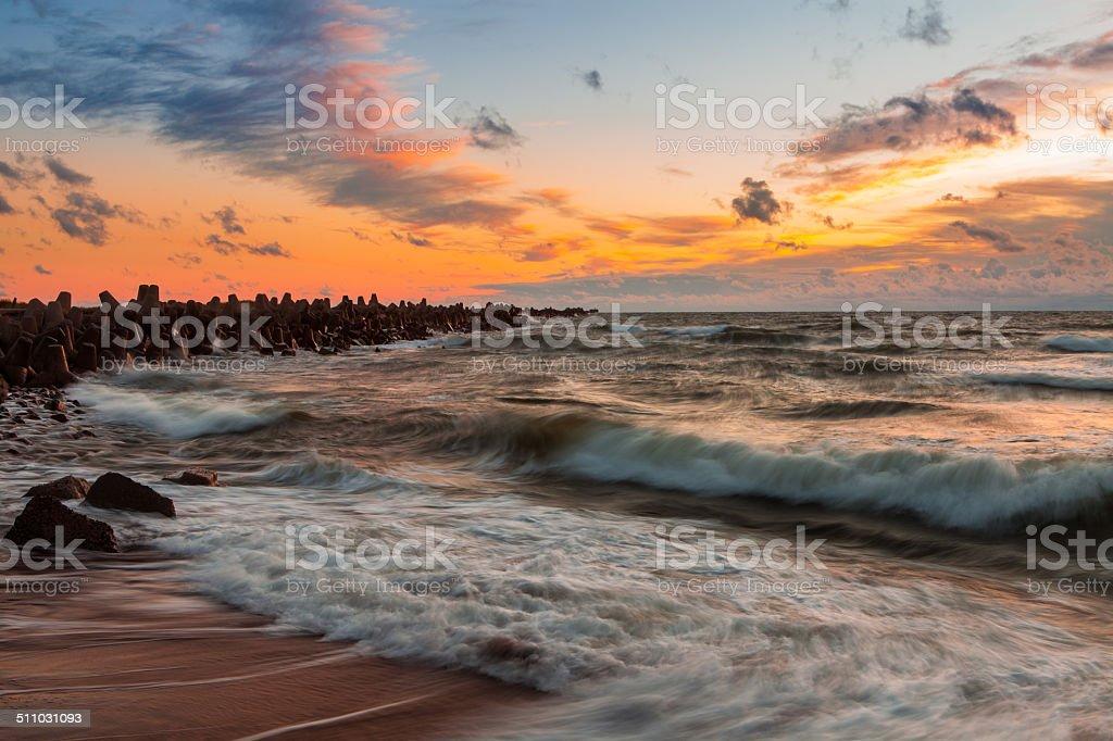 Baltic waves stock photo