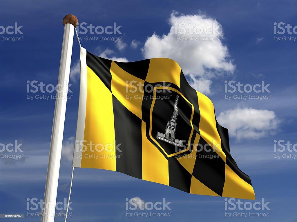 Baltimore City Flag stock photo