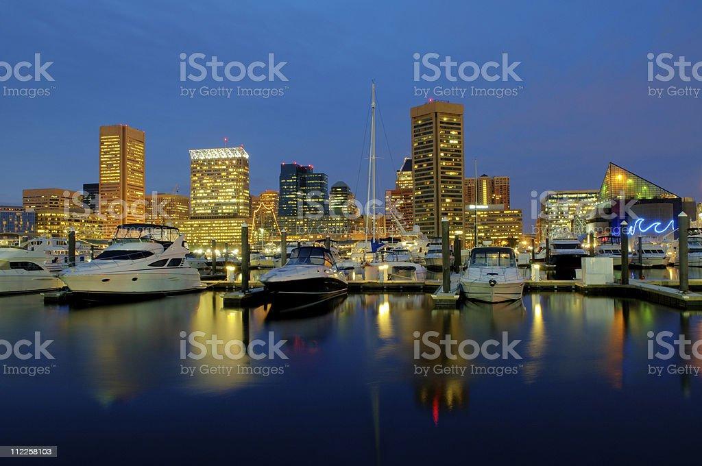 Baltimore Cityscape royalty-free stock photo