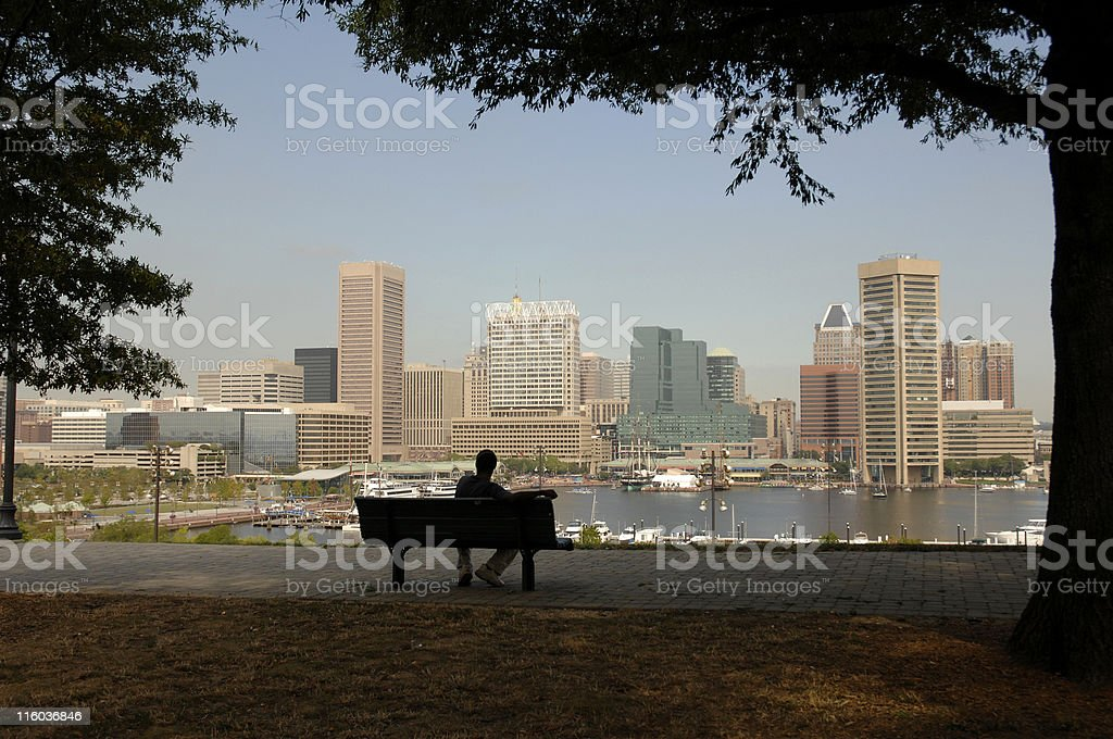 Baltimore from the hill royalty-free stock photo
