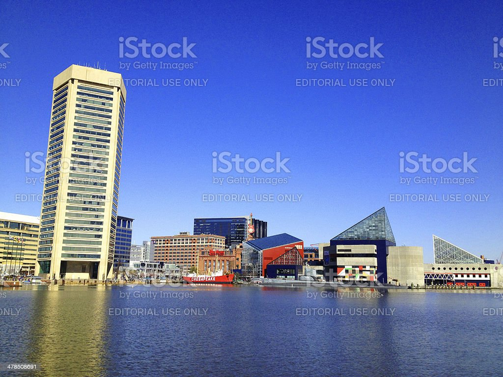 Baltimore Harbor on a Sunny day stock photo