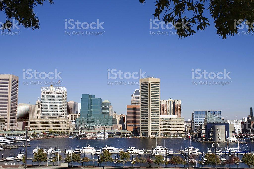 Baltimore Harbor Skyline stock photo