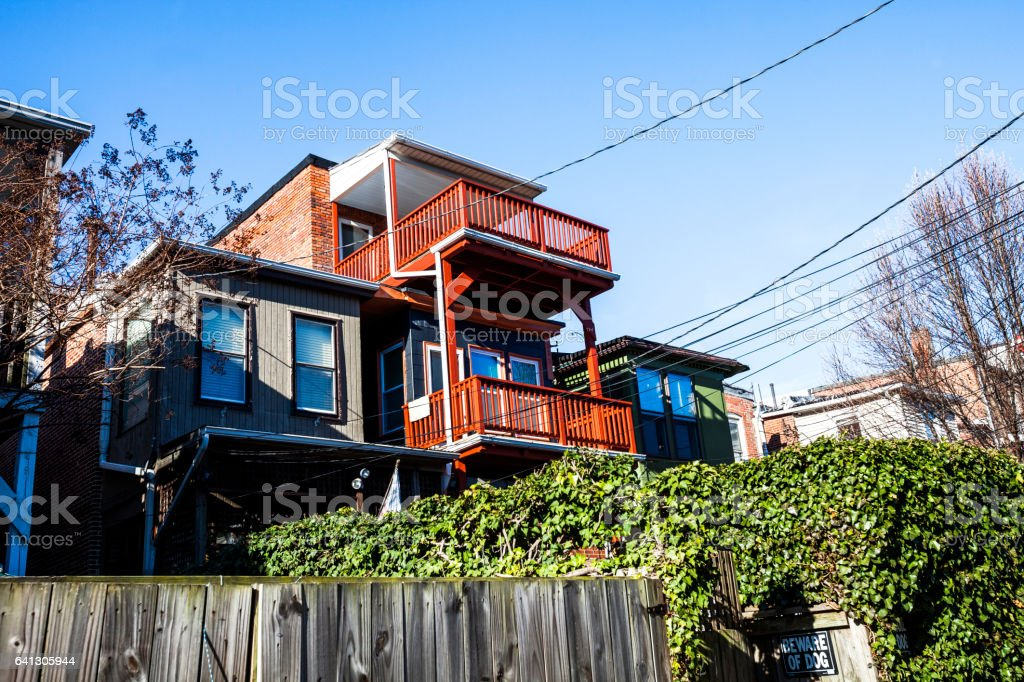 Baltimore homes, Charles Village. stock photo