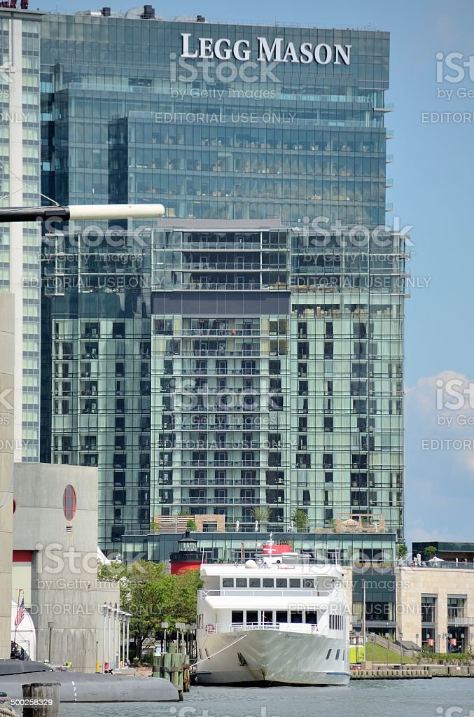 Baltimore Inner Harbor royalty-free stock photo