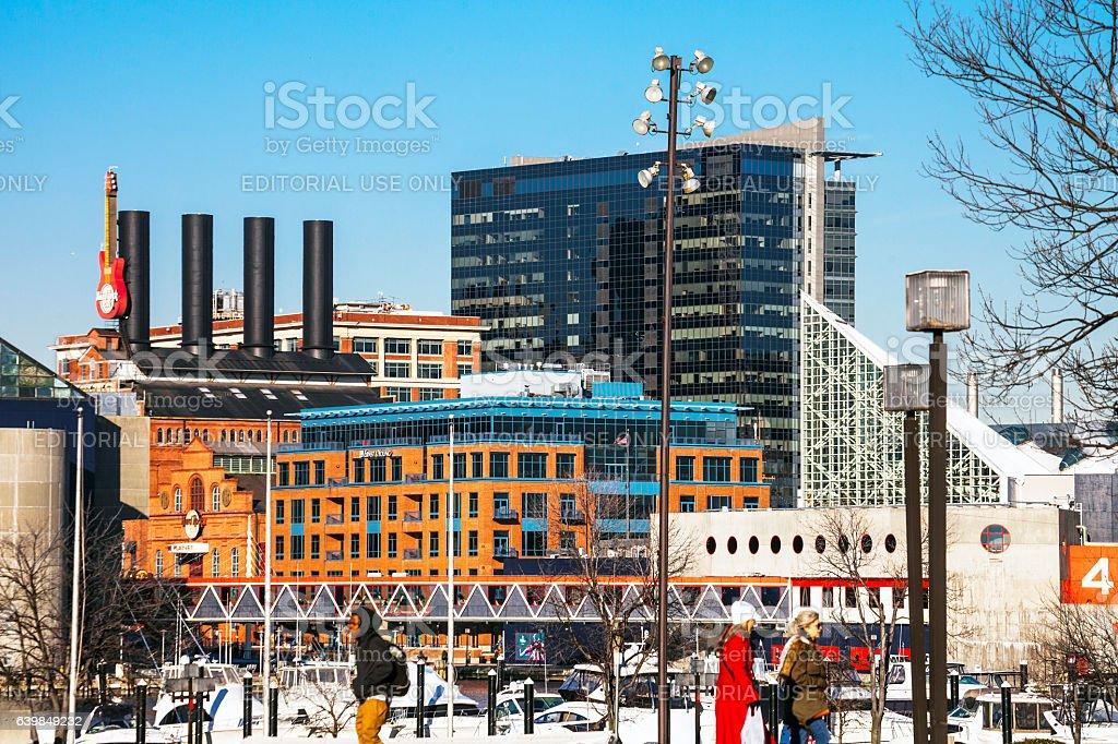 Baltimore Inner Harbor. stock photo