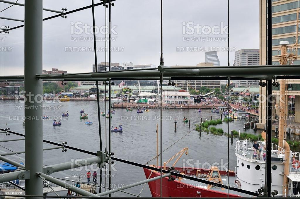 Baltimore Inner Harbor Scene stock photo