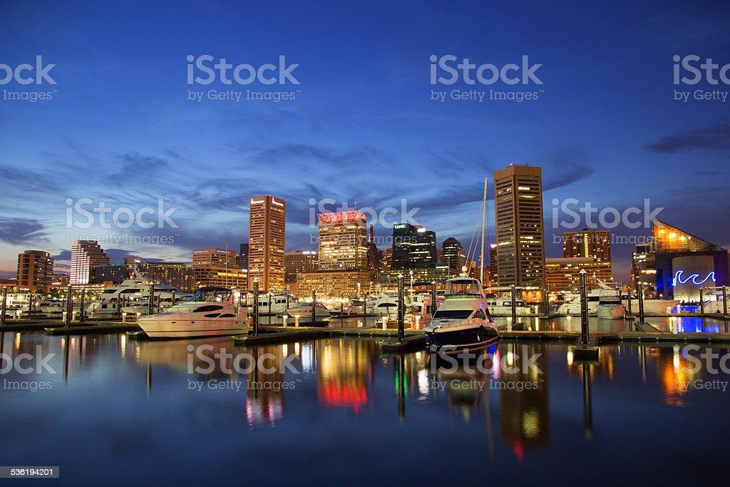 Baltimore, Maryland - Inner Harbor stock photo