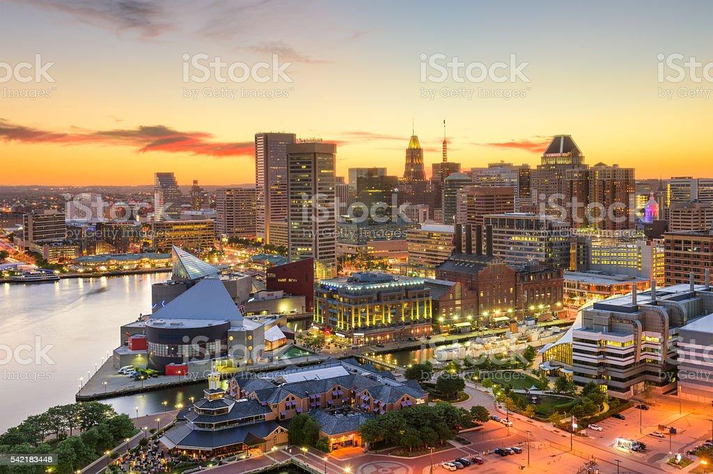 Baltimore Maryland Skyline stock photo