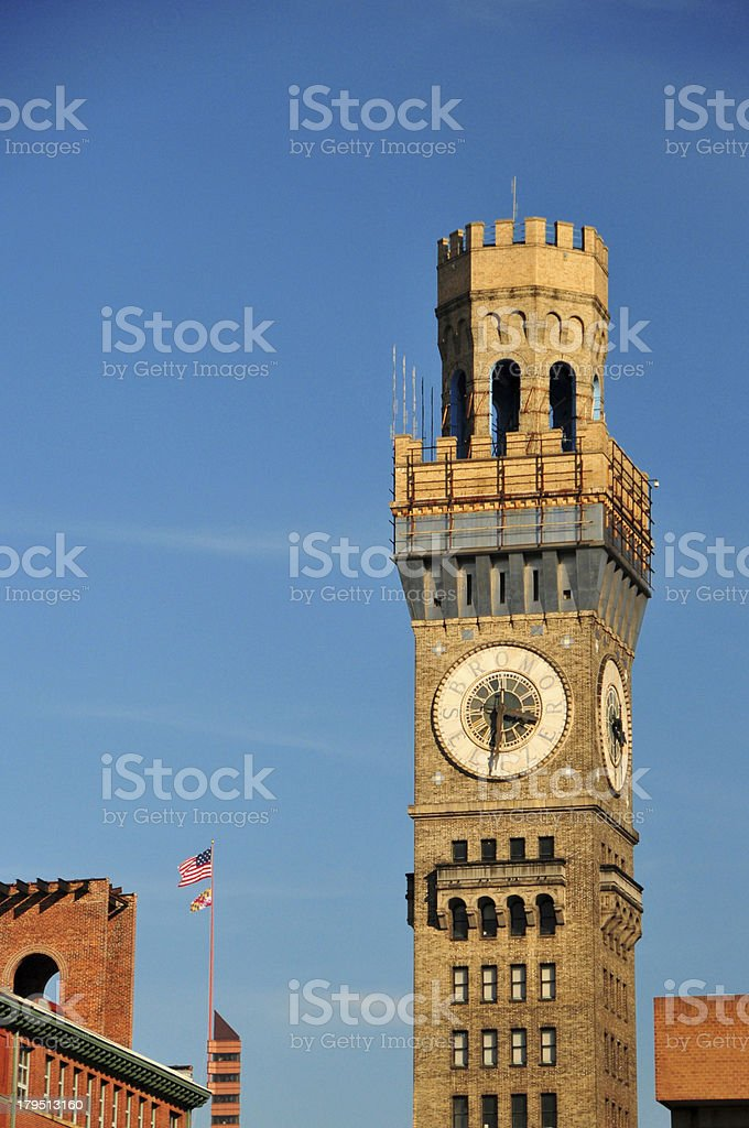 Baltimore, Maryland, USA: Emerson Bromo-Seltzer Tower royalty-free stock photo