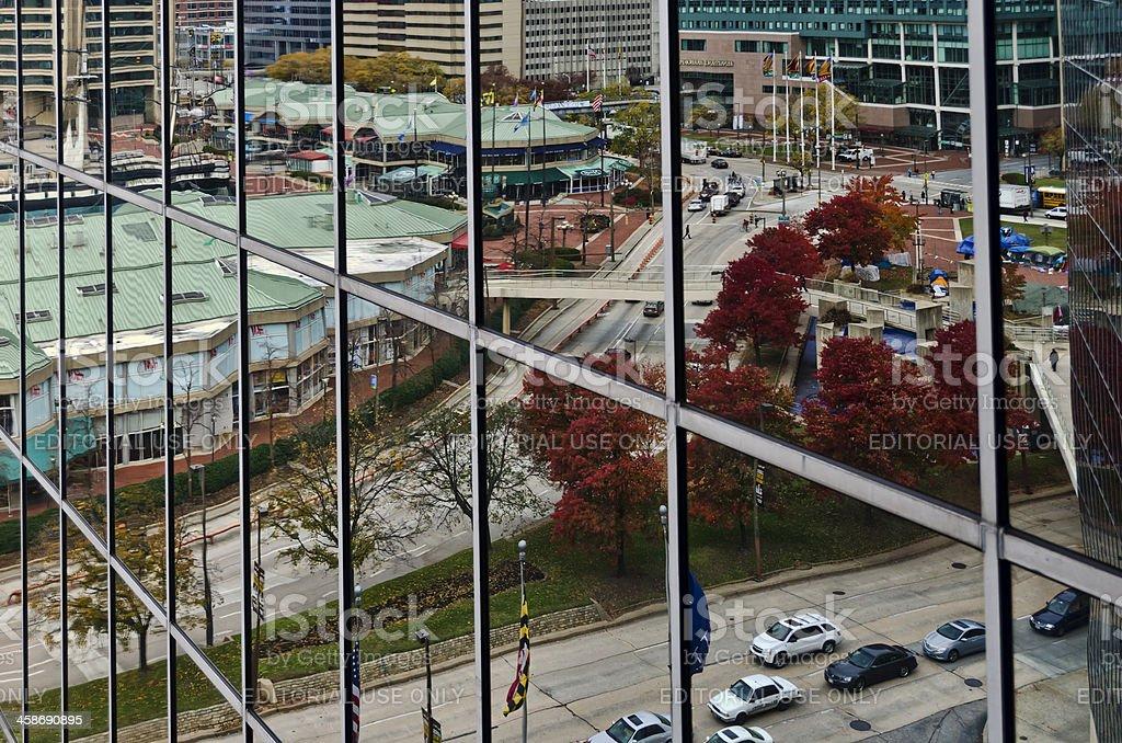 Baltimore Reflection stock photo