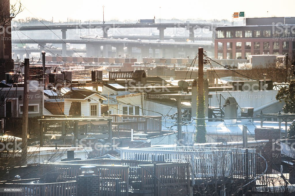 Baltimore view - Federal Hill. stock photo