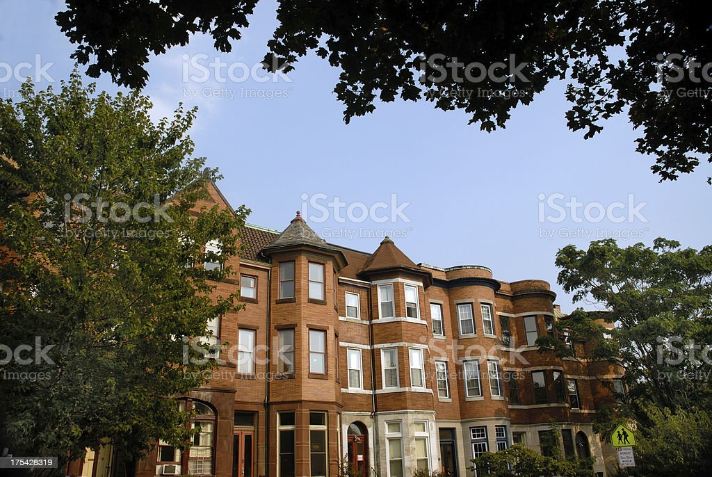 Baltimore's Charles Village royalty-free stock photo