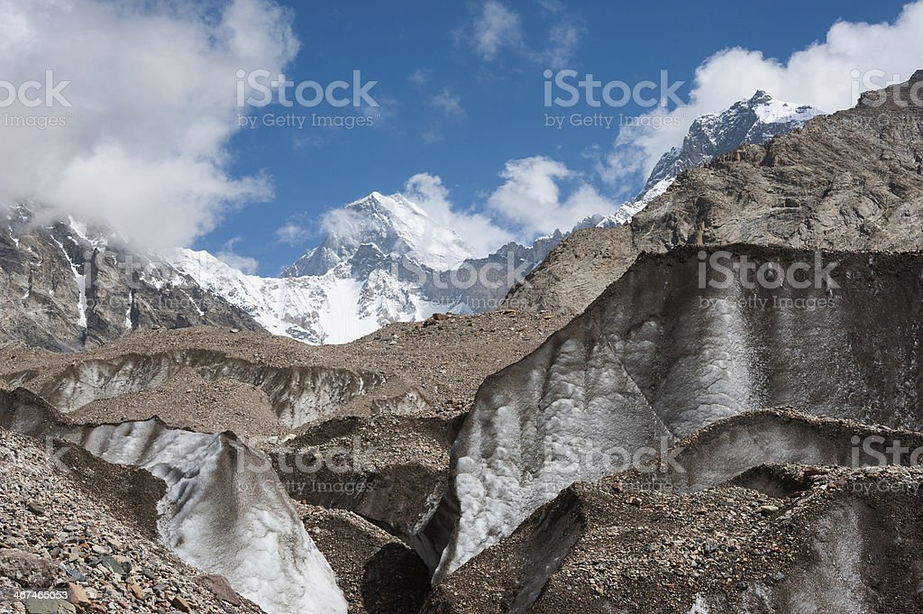 Baltoro glacier, Pakistan stock photo