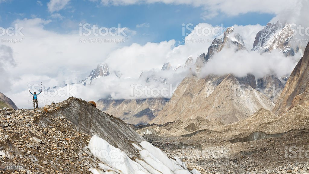 Baltoro Glacier Trekking royalty-free stock photo
