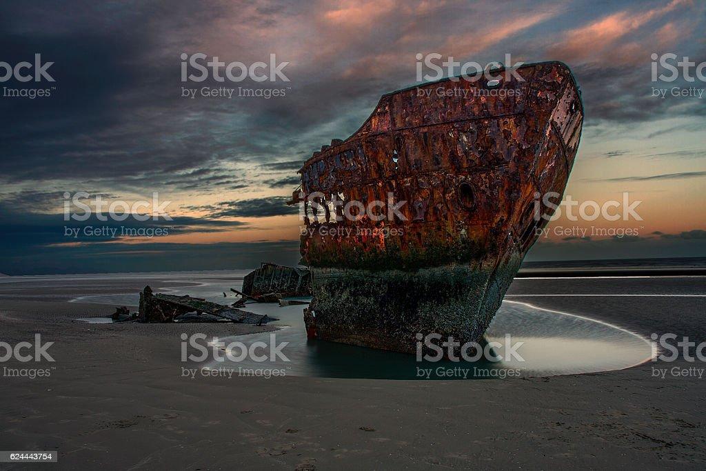 Baltray Shipwreck stock photo