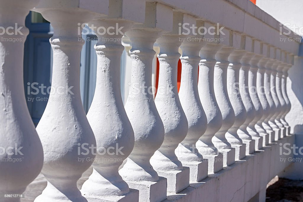 Balustrade close up stock photo