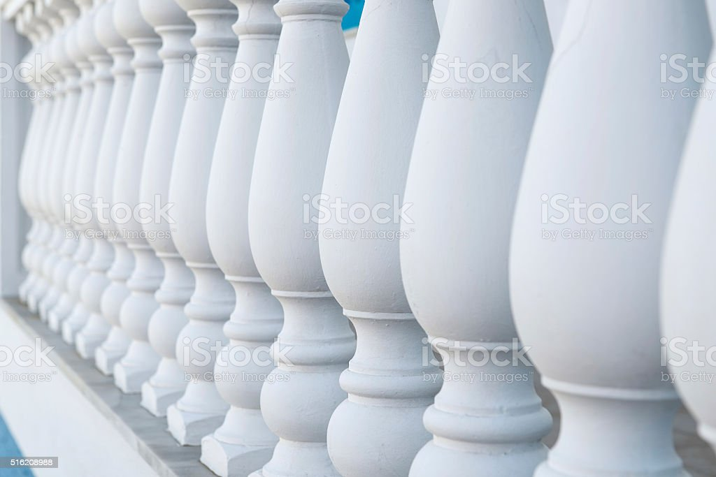 Balustrade Pillars in a Row stock photo
