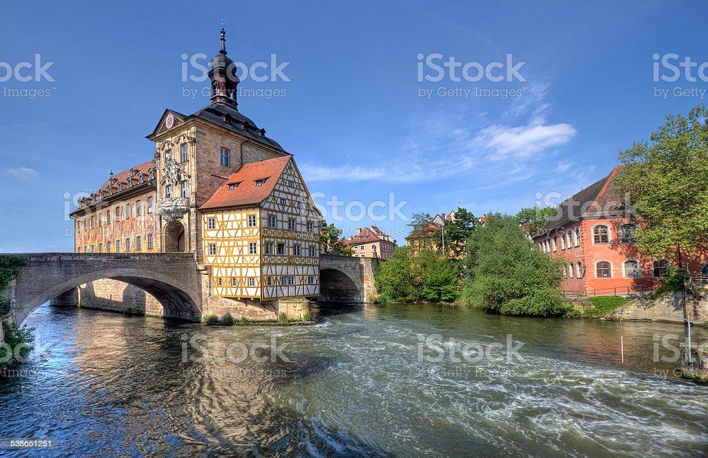 Bamberg City Hall, Germany stock photo