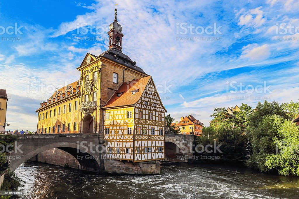 Bamberg City Hall on a warm summer day stock photo