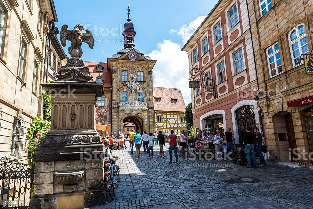 Bamberg - historical city in germany stock photo