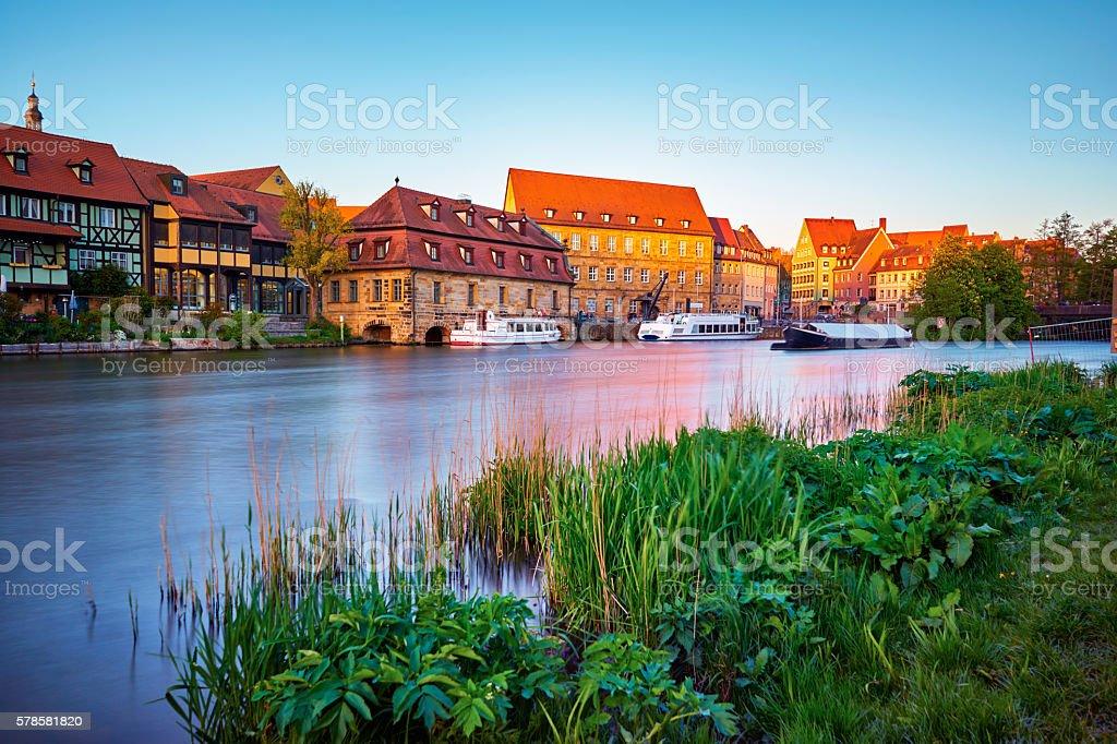 Bamberg Little Venice at Sunset stock photo