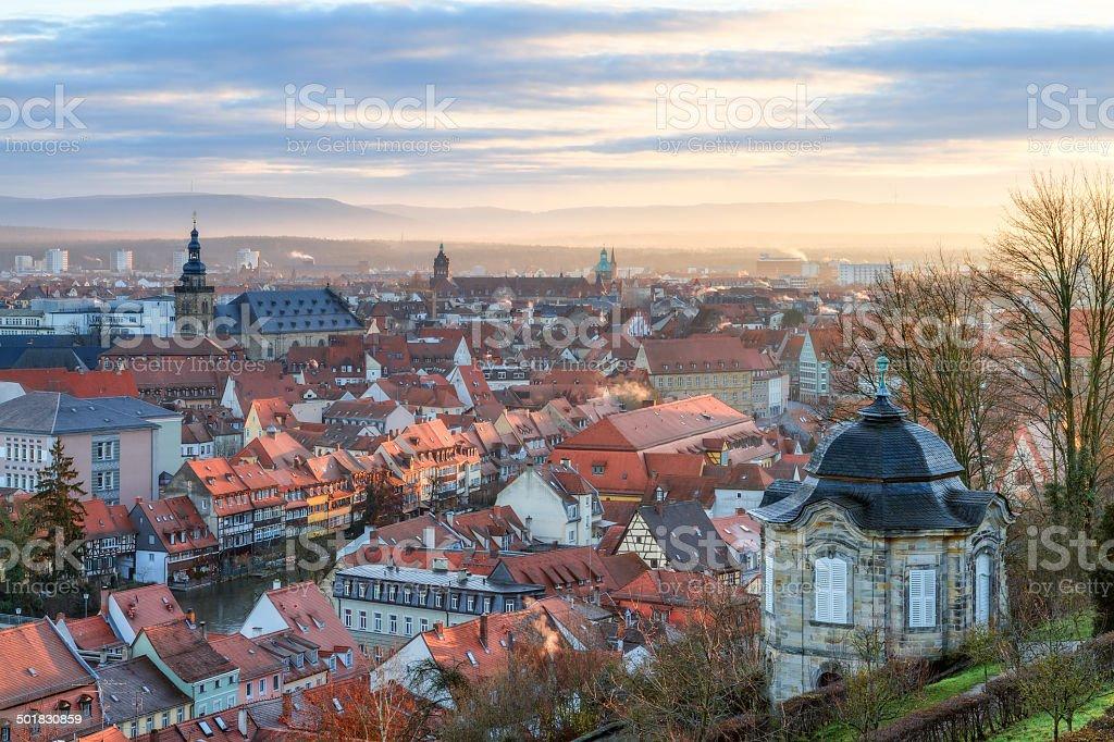 Bamberg Little Venice Panorama stock photo