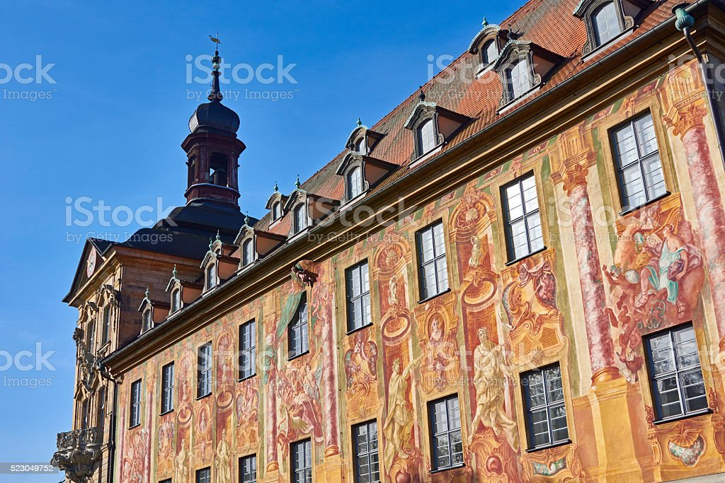 Bamberg Old Town Hall stock photo