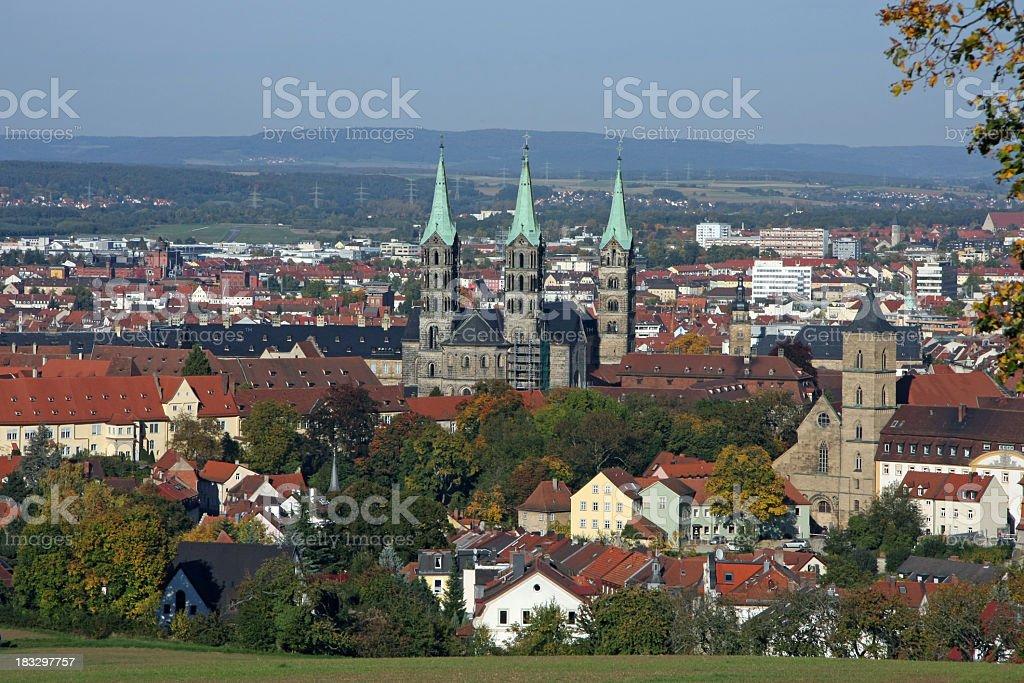 Bamberg panorama stock photo