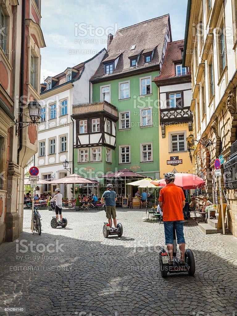 Bamberg segway tour stock photo