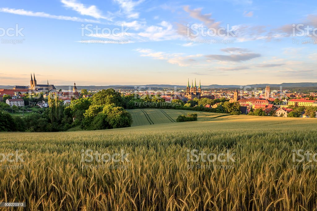Bamberg Sommer Blick auf die Stadt Lizenzfreies stock-foto
