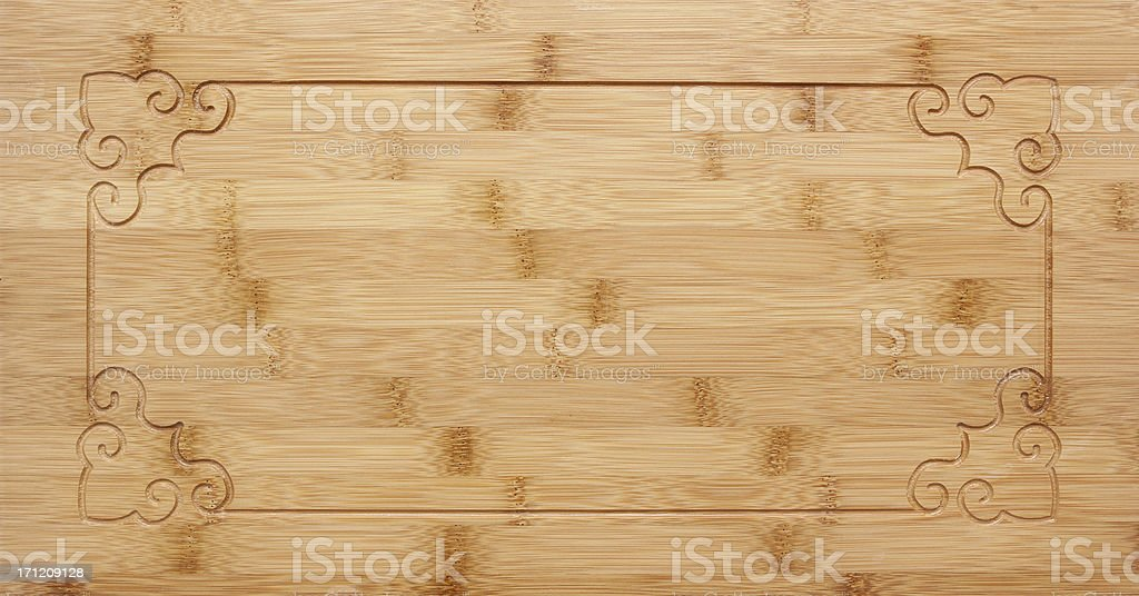Bamboo background with decorative pattern frame royalty-free stock photo