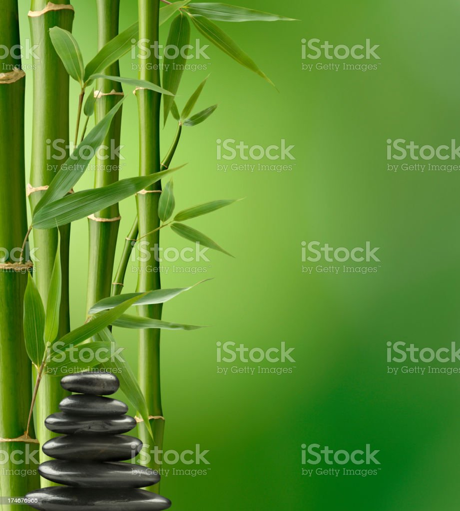 Bamboo Balance royalty-free stock photo