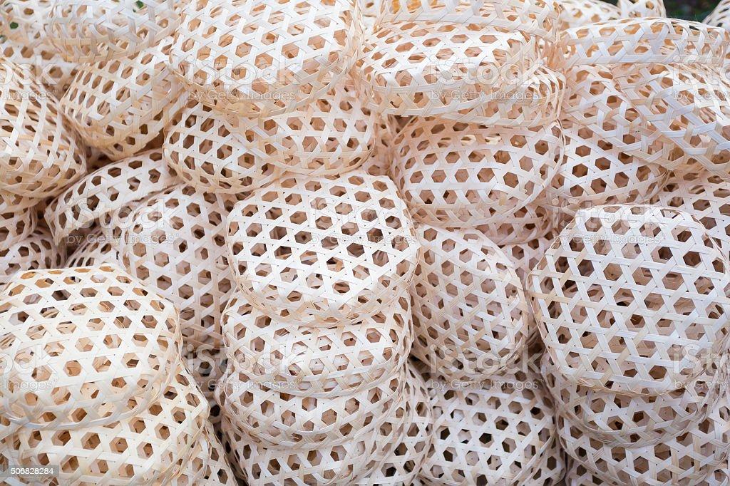 Bamboo basket stock photo