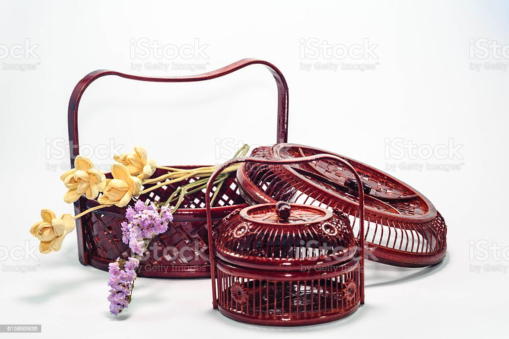 bamboo basketry stock photo