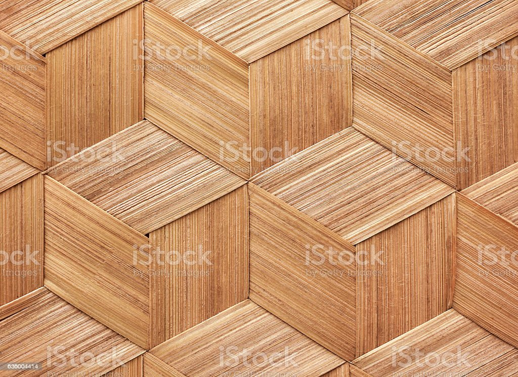 Bamboo basketry texture. stock photo