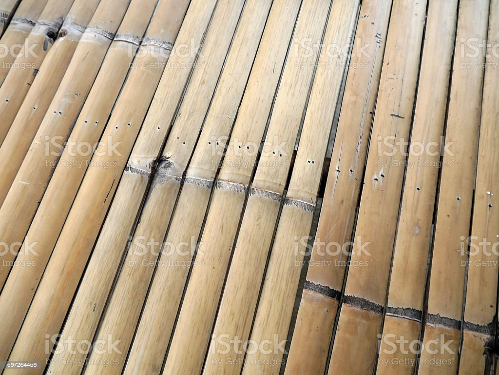 bamboo bed stock photo