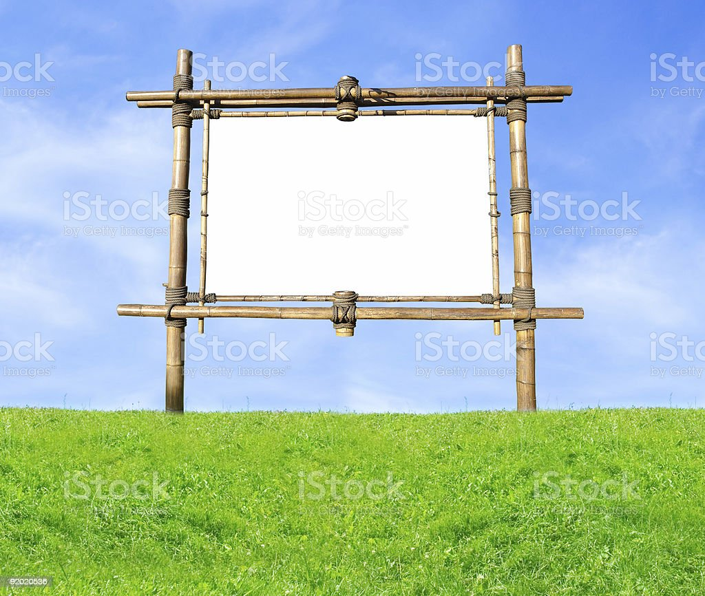 Bamboo Billboard royalty-free stock photo