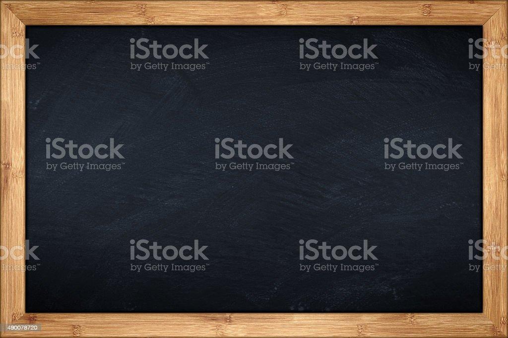 bamboo blackboard stock photo