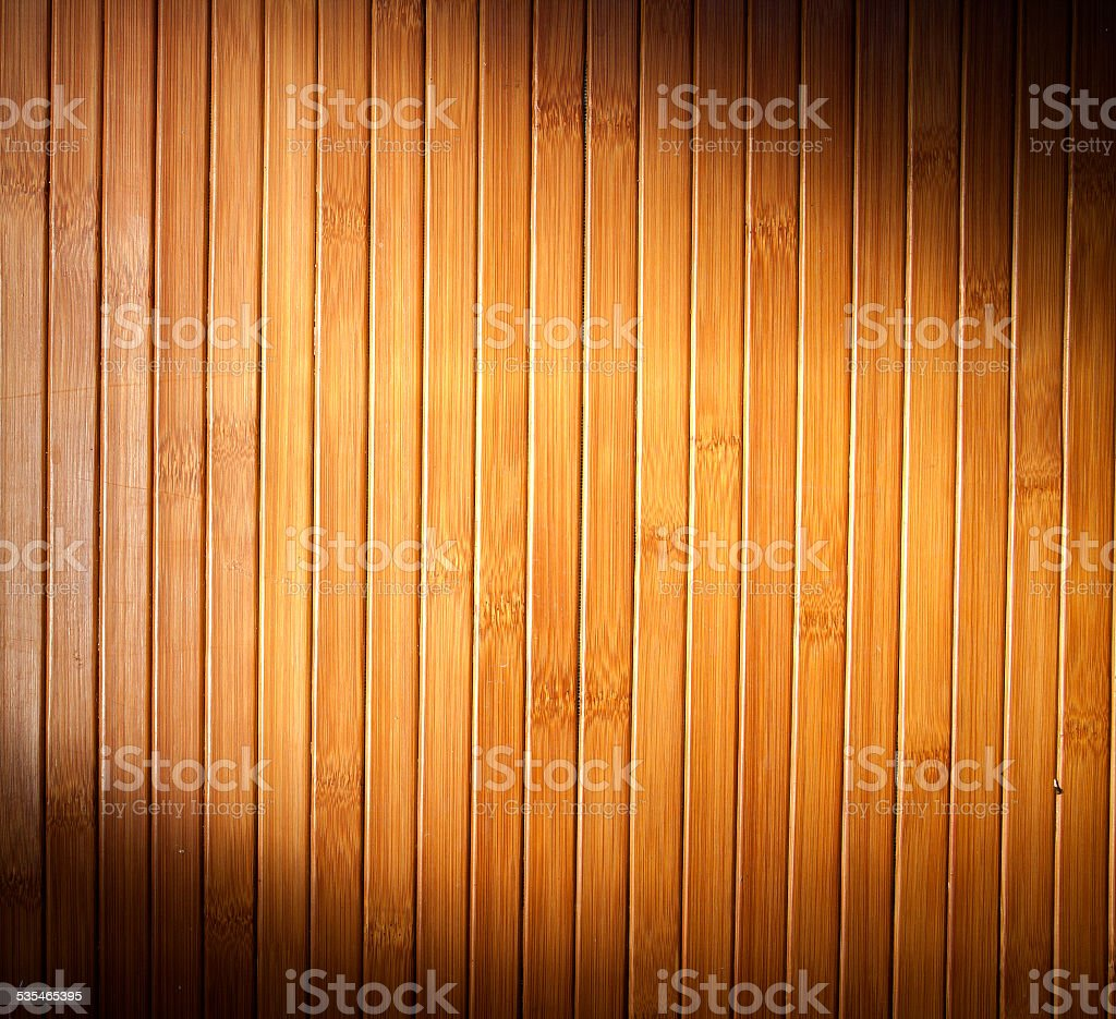 Bamboo blind in the kitchen stock photo