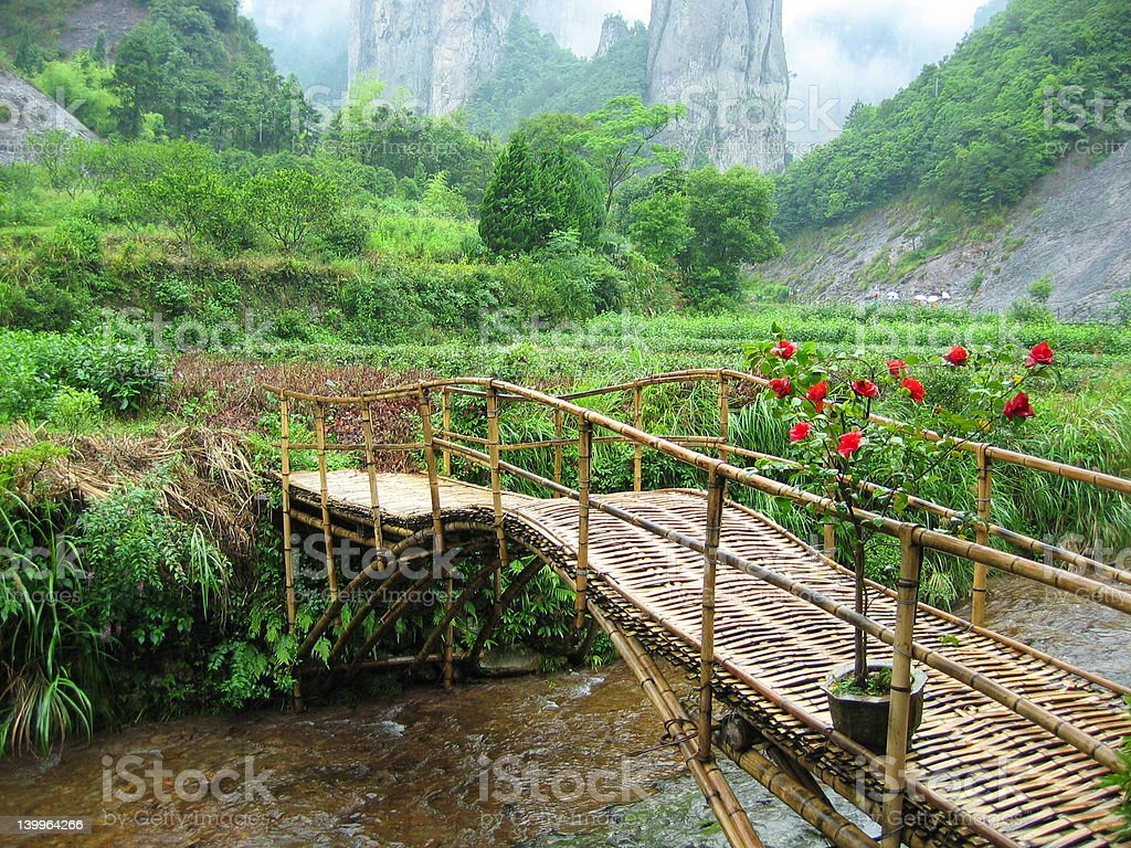 Bamboo Bridge: Asia royalty-free stock photo